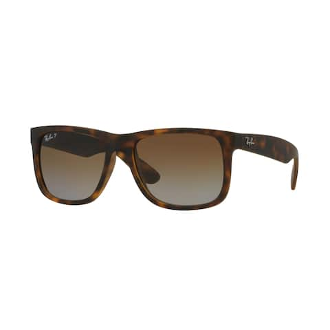 Ray-Ban RB4165 865/T5 55 Justin Classic Matte Tortoise Frame Polarized Brown Gradient 55mm Lens Sunglasses