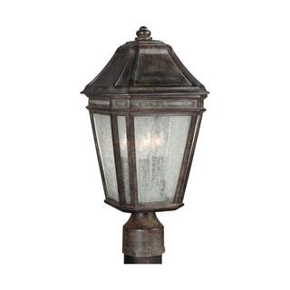 Feiss Londontowne 3 Light Weathered Chestnut Post