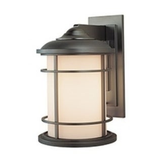 Feiss 1 - Light Wall Lantern, Burnished Bronze