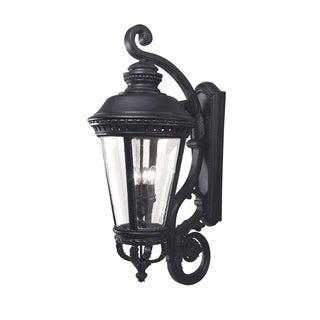 Feiss Castle 4 Light Black Wall Lantern