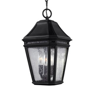 Feiss Londontowne 3 Light Black Pendant