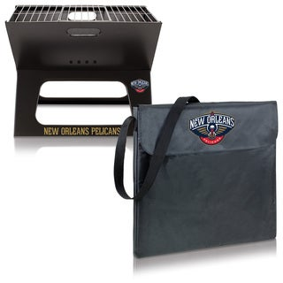 Picnic Time Metal/Polyester New Orleans Pelicans X-Grill Portable Barbecue