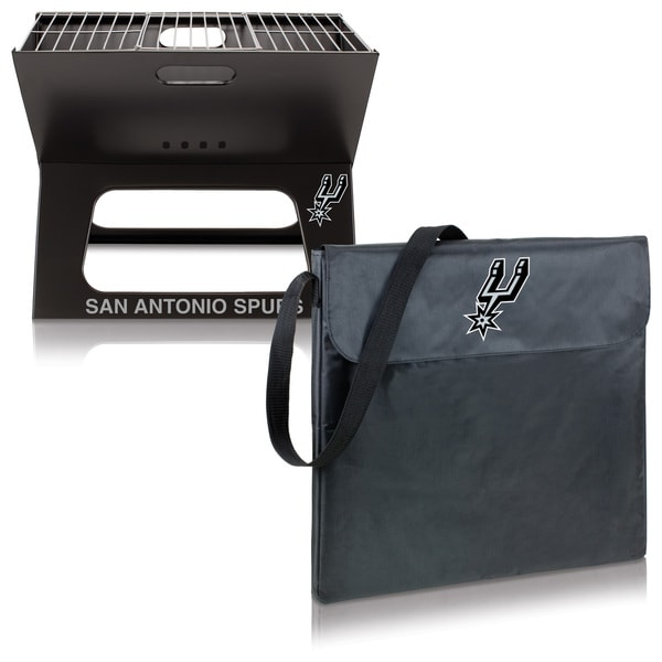 Picnic TIme San Antonio Spurs X-Grill Portable BBQ