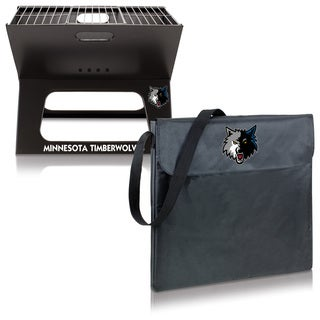Picnic Time Minnesota Timberwolves X-Grill Folding Portable BBQ