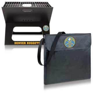 Picnic Time Denver Nuggets X-Grill Metal/Polyester Folding Portable Charcoal BBQ Grill