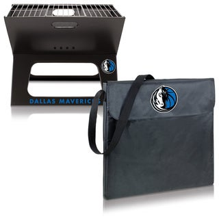 Picnic Time Dallas Mavericks X-Grill Metal/Polyester Folding Portable Charcoal BBQ Grill