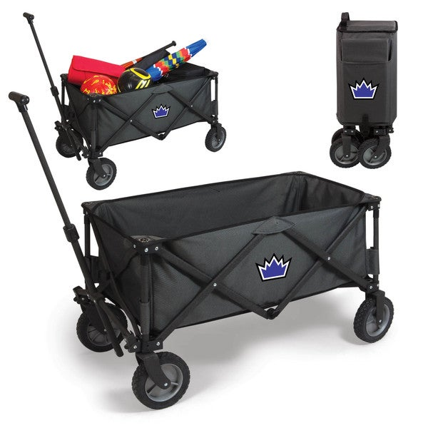Picnic Time Sacramento Kings Dark Grey Polyester Metal Adventure Wagon