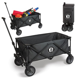 Brooklyn Nets Picnic Time Adventure Wagon Black Polyester and Metal Wheeled Utility Wagon