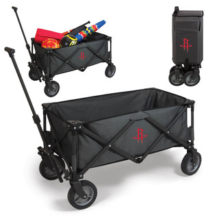 Picnic Time Adventure Wagon Dark Grey Houston Rockets Logo Polyester and Metal Folding Wagon