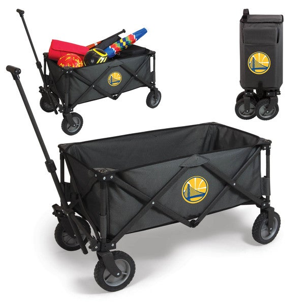 Picnic Time Golden State Warriors Dark Grey Polyester and Metal Adventure Wagon