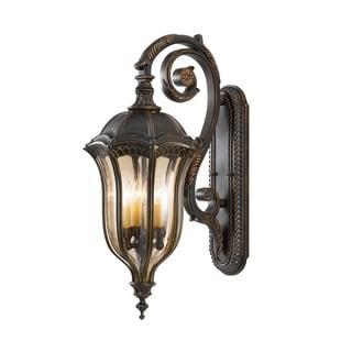 Feiss Baton Rouge 4 Light Walnut Wall Lantern