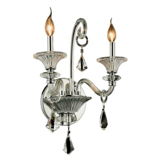 Elegant Lighting Aurora 16-inch Wall Sconce with Chrome Finish