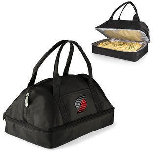 Picnic Time Portland Trailblazers Black Aluminum and Polyester Two-Tiered Potluck Casserole Tote