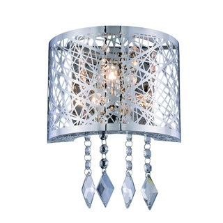 Elegant Lighting Finley 8-inch Wall Sconce with Chrome Finish and Crystal