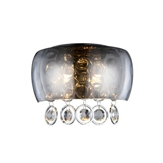 Elegant Lighting Jordan 11-inch Wall Sconce with Chrome Finish and Crystal