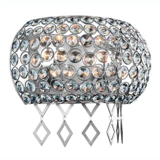 Elegant Lighting Brida 12-inch Wall Sconce with Chrome Finish and Crystal
