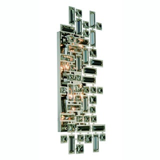Elegant Lighting Picasso 22-inch Wall Sconce with Chrome Finish and Crystal