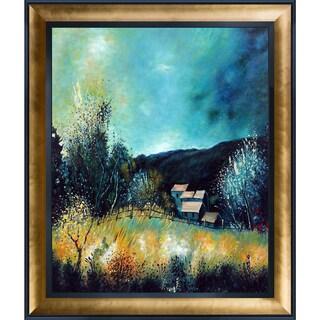 Pol Ledent 'Landscape Ardennes 54' Hand Painted Framed Canvas Art