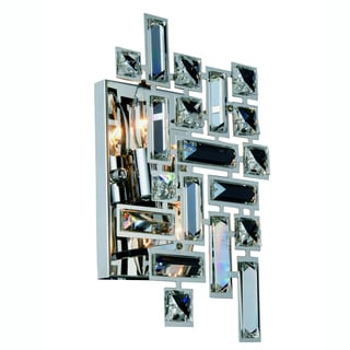 Elegant Lighting Picasso Wall Sconce with Chrome Finish and Crystal