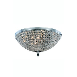 Elegant Lighting Brida 21.7-inch Flush Mount with Chrome Finish and Crystal