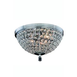 Elegant Lighting Brida 14.2-inch Flush Mount with Chrome Finish and Crystal