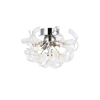 Elegant Lighting Ritz 14-inch Flush Mount with Chrome Finish