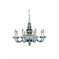 Elegant Lighting Champlain 30-inch Pendant Lamp with Chrome Finish