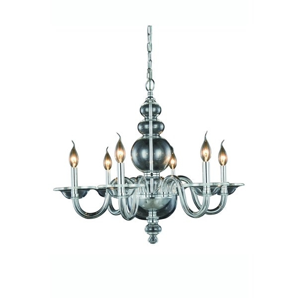 Elegant Lighting Champlain 27-inch Pendant Lamp with Chrome Finish