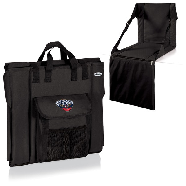 Picnic Time New Orleans Pelicans Black Polyester Padded Portable Stadium Seat