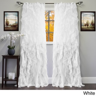 Sheer Voile Ruffled Tier Window Curtain Panel