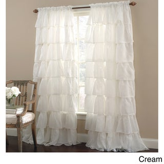 Crushed Voile Bouffant Assorted Colors 60-inch x 84-inch Window Panel