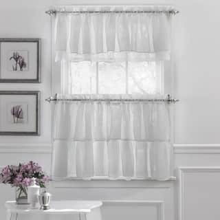 Elegant Crushed Voile Ruffle Blue/White/Pink/Purple/Beige Window Curtain Pieces With Optional Valance and Tiers https://ak1.ostkcdn.com/images/products/11884193/P18780836.jpg?impolicy=medium