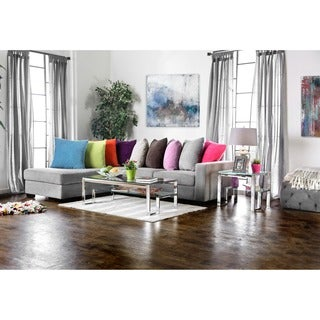 Furniture of America Estelline Contemporary 2-piece Metal Accent Table Set