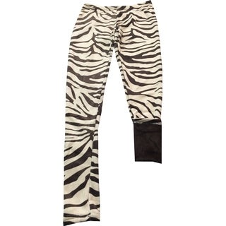 Girl's Brown Polyester and Spandex Animal Print Fur-lined Lounge Pants (4 options available)