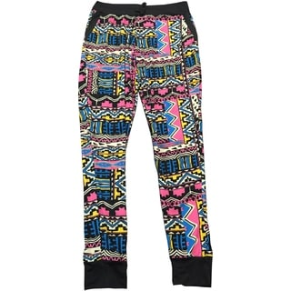 Riviera Girls' Active Multicolored Polyester/Spandex Printed Joggers