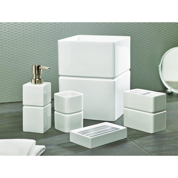 Alabaster Resin Bath Accessories