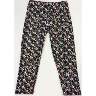 Girls Floral Printed Polyester/Spandex Leggings