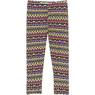 Girls' Spandex Geometric-print Leggings