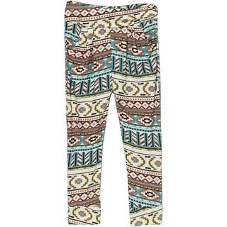 Girls' Aztec Print Polyester and Spandex Jogger Pants