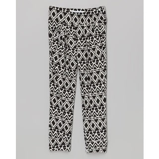 Riviera Girls' Aztec Black Polyester/Spandex Toddler & Kids Printed Lounge Pants