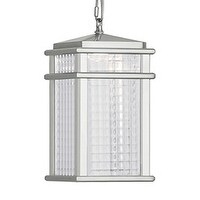Feiss 1 - Light Pendant, Brushed Aluminum