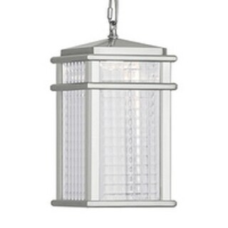 Feiss Mission Lodge 1 Light Brushed Aluminum Pendant