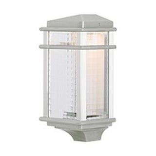 Feiss Mission Lodge 1 Light Brushed Aluminum Wall Lantern