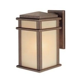 Feiss Mission Lodge 1 Light Corinthian Bronze Wall Lantern