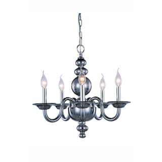 Elegant Lighting Champlain 20-inch Pendant Lamp with  Siver Shade Finish
