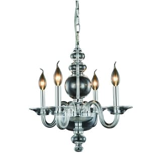 Elegant Lighting Champlain 17.5-inch Pendant Lamp with Chrome Finish