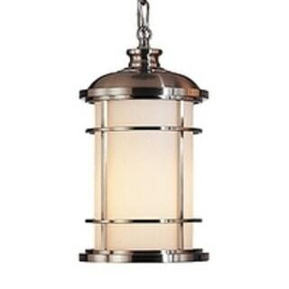 Feiss Lighthouse 1 Light Brushed Steel Pendant