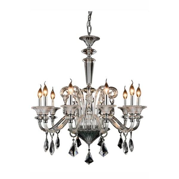 Elegant Lighting Aurora 32-inch Pendant Lamp with Chrome Finish
