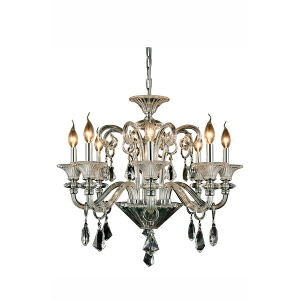 Elegant Lighting Aurora 26-inch Pendant Lamp with Chrome Finish. Opens flyout.