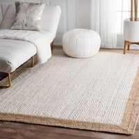 The Gray Barn Cinch Buckle Braided Reversible White Jute Area Rug 3